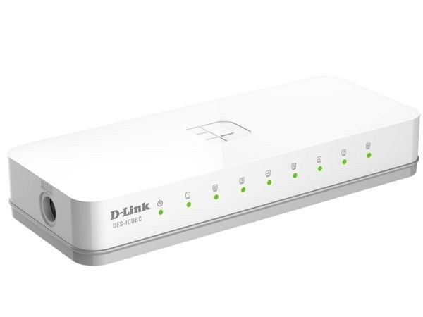 Коммутатор D-Link DES-1008C/A1A, Small case 8-port UTP 10/100Mbps Auto-sensing, Stand-alone, Unmanaged, Palm-top Fast Ethernet Switch [DES-1008C/A1A]